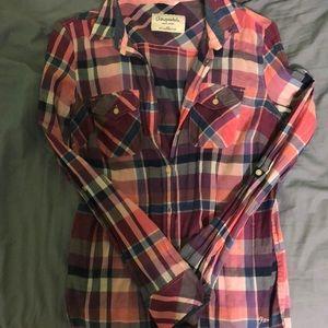 Medium Aeropostale paid button up shirt